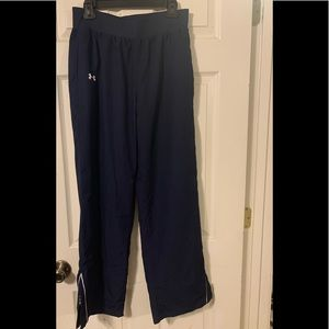 Navy Blue Loose Fitting Under Armour Warm Up Pants